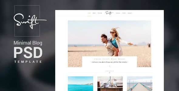 Swift – Minimal Blog PSD Template - Portfolio Creative
