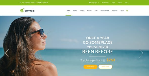 Travelite   Tours and Travels Online Booking PSD
