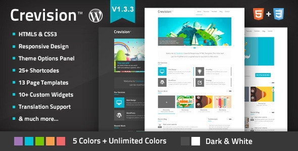 Crevision - Responsive WordPress Theme - Creative WordPress