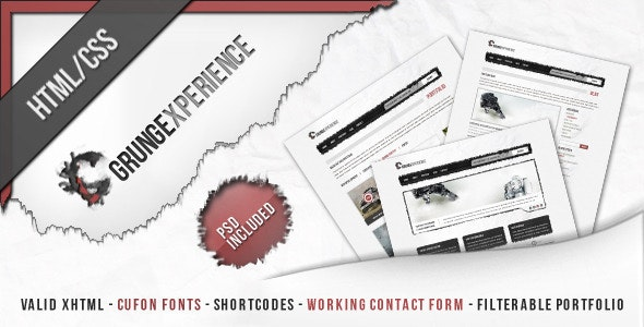 Grungexperience - Premium HTML Template - Creative Site Templates