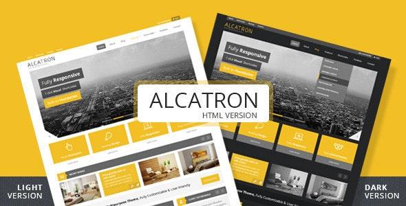 Alcatron - A multipurpose responsive template - Corporate Site Templates