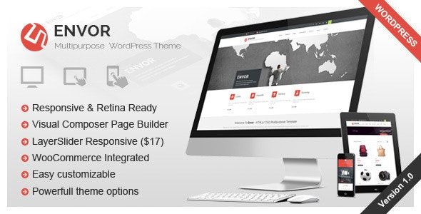 Envor - Fully Multipurpose WordPress Theme - Business Corporate