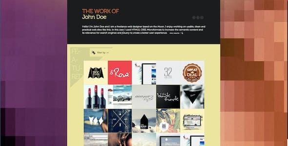 Folio Nº1 - One page creative portfolio