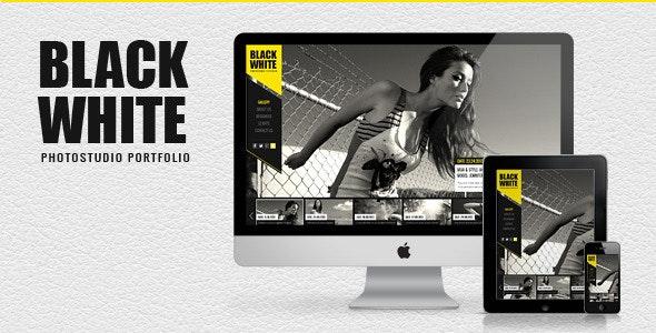 Black&White - Responsive Photo Portfolio - Photography Creative