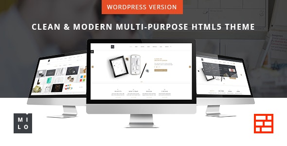 Milo - Responsive & Multipurpose WordPress Theme - Business Corporate