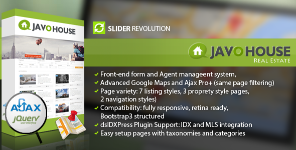 Javo House - Real Estate WordPress Theme - Real Estate WordPress