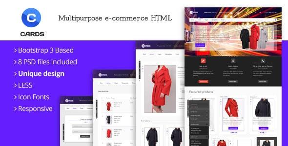 Cards - Multipurpose e-Commerce HTML Template - Retail Site Templates
