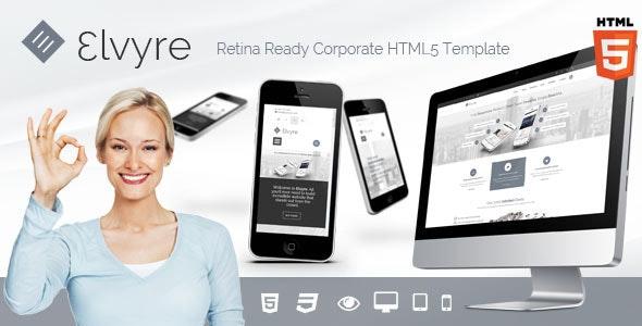 Elvyre Retina Ready HTML5 Template - Corporate Site Templates
