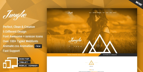 Junghe - Personal & Portfolio Muse Template - Personal Muse Templates