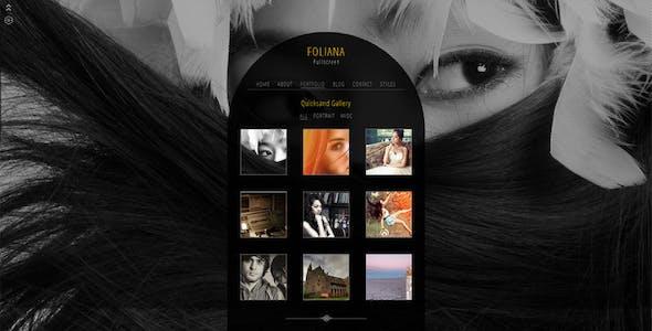Foliana - One Page Responsive Portfolio