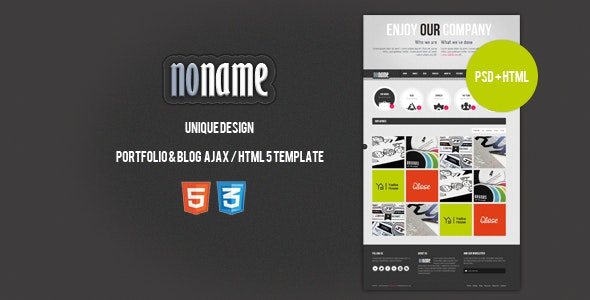 AGT Noname Ajax / HTML5 Template - Creative Site Templates