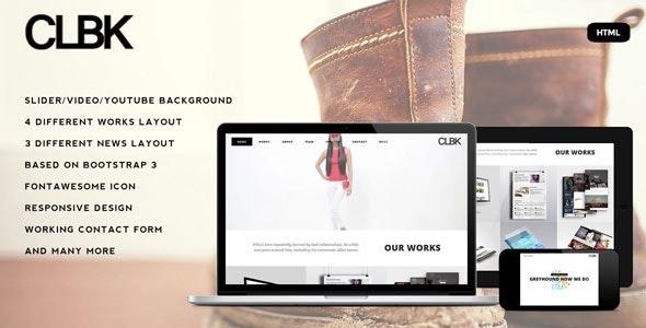 CLBK - Responsive One Page Portfolio HTML Template - Portfolio Creative