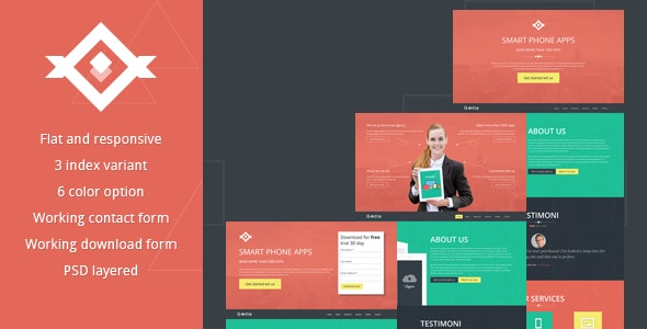 Gotte Multipurpose Landing Page - Landing Pages Marketing