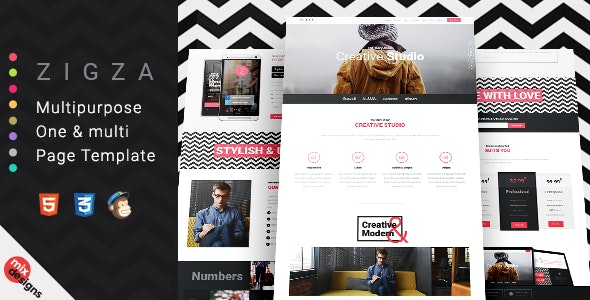 Zigza - Multipurpose Page Template - Creative Site Templates