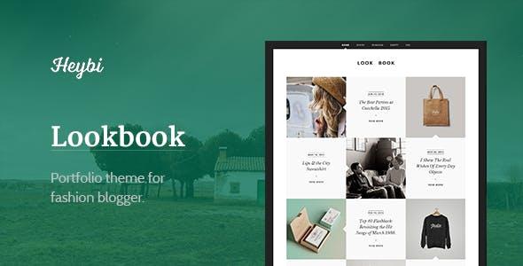 Lookbook: Portfolio Theme for Fashion Blogger