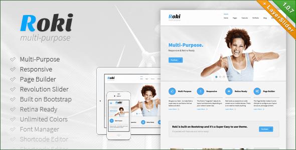 Roki - Multi-Purpose Responsive Theme - Business Corporate