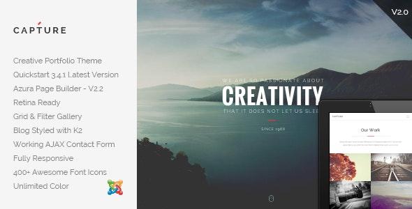 Capture Creative Portfolio Joomla Template By Cththemes