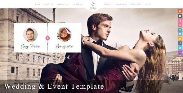 Gittys - Responsive Wedding & Event Template - Wedding Site Templates