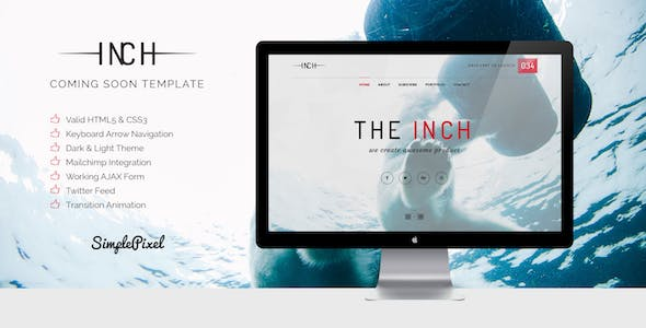 Inch - Creative Coming Soon Template