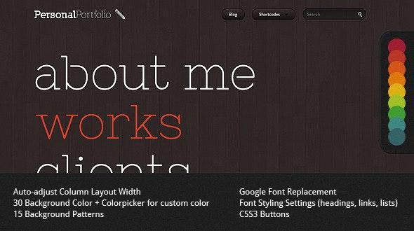 Personal Portfolio - Creative Website Template - Creative Site Templates