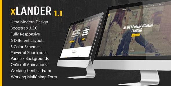 xLander - Premium Landing Page Template - Landing Pages Marketing