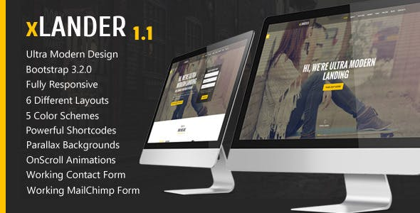 xLander - Premium Landing Page Template