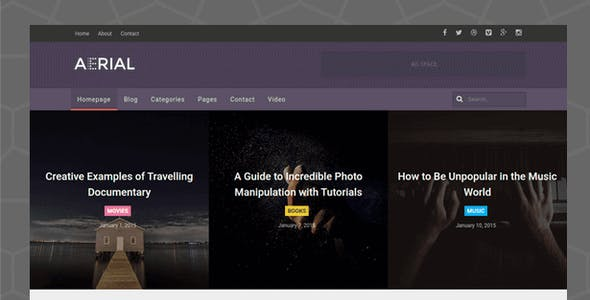 Aerial - Layers Magazine WordPress Theme