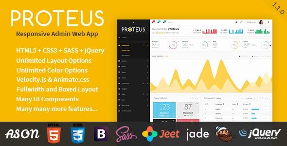 Proteus - Responsive Admin Web App