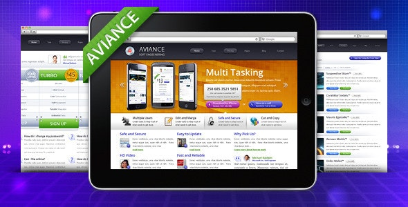 Aviance - Creative and Business HTML Template - Creative Site Templates