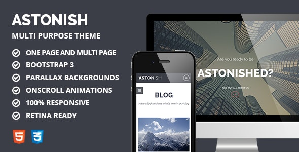 Astonish - Multipurpose Responsive Parallax Theme - Creative Site Templates