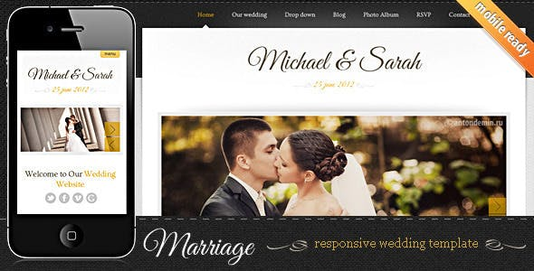 Marriage - Responsive Wedding Template by SmartTemplates