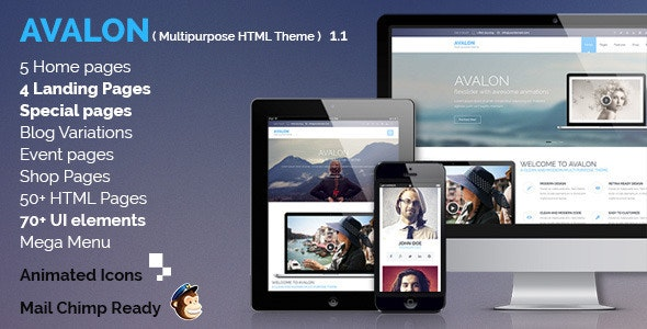Avalon - Commerce Multipurpose HTML Theme - Creative Site Templates