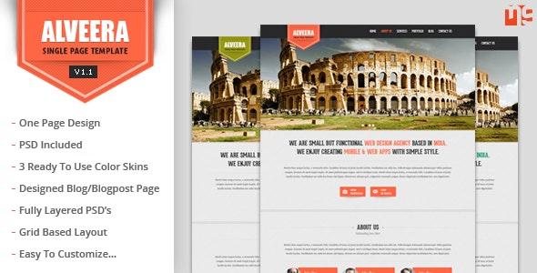 Alveera - Responsive HTML5 Single Page Template - Portfolio Creative