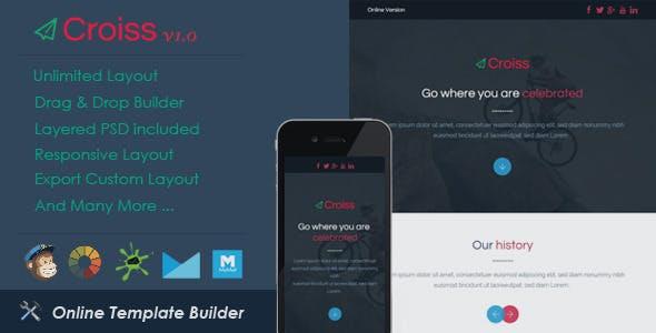 Croiss - Responsive Email + Drag & Drop Builder