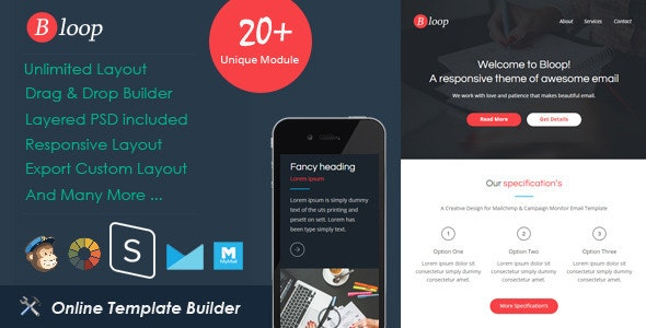 Bloop - Responsive Email + StampReady Builder - Email Templates Marketing