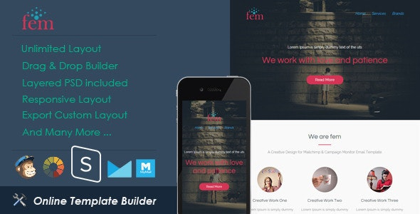 Fem - Responsive Email + StampReady Builder - Email Templates Marketing