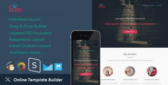 Fem - Responsive Email + StampReady Builder