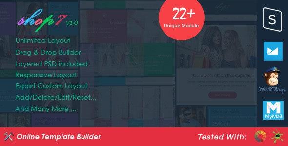 Shop7 - Ecommerce Email + Drag & Drop Builder - Email Templates Marketing