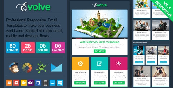 Evolve - Professional Responsive Email Template - Email Templates Marketing