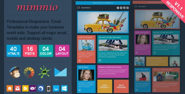 Mimmio - Metro Style Responsive Email Template - Email Templates Marketing