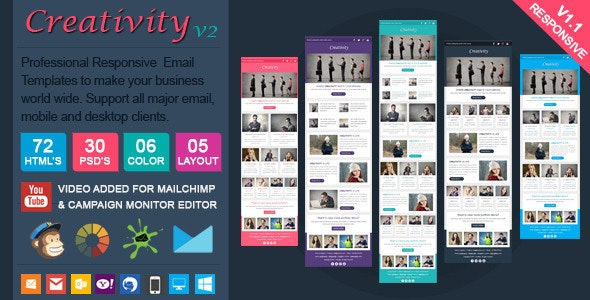 Creativity2 - Clean Responsive Email Template - Email Templates Marketing