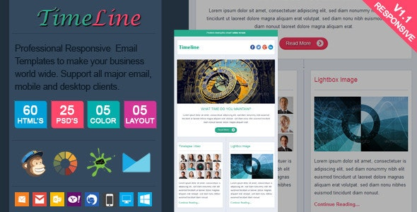 TimeLine - Facebook Style Responsive Email - Email Templates Marketing