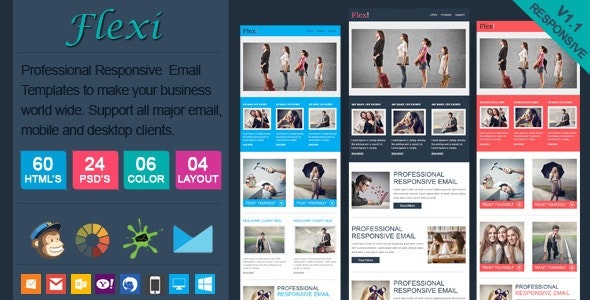Flexi - Professional Responsive Email Template - Email Templates Marketing