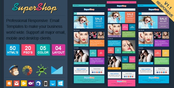 SuperShop - Responsive Ecommerce Email Template - Email Templates Marketing
