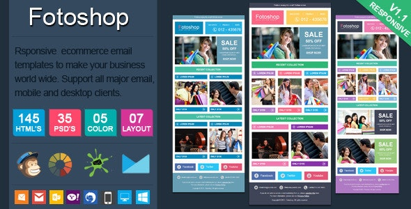 Fotoshop - Responsive Ecommerce Email Newsletter - Newsletters Email Templates