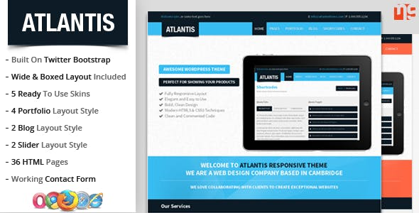 Atlantis : Bootstrap Multipurpose Responsive Theme