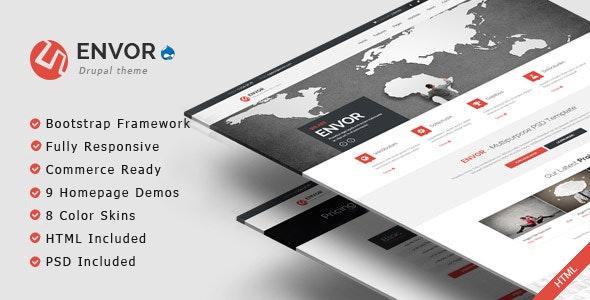 Envor - Fully Multipurpose Drupal 7.6 Theme - Business Corporate