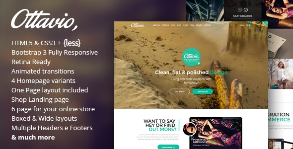 Ottavio - Multipurpose HTML5 Bootstrap Template - Portfolio Creative