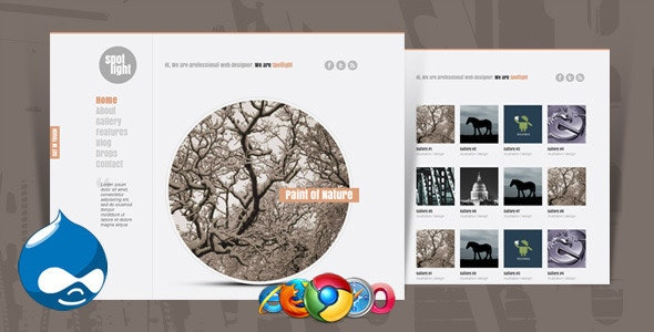 Spotlight - Clean & Minimal Drupal Theme - Portfolio Creative