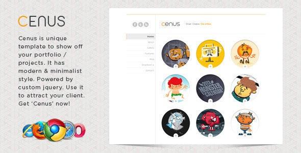 Cenus - Modern Minimalist Website Template - Portfolio Creative